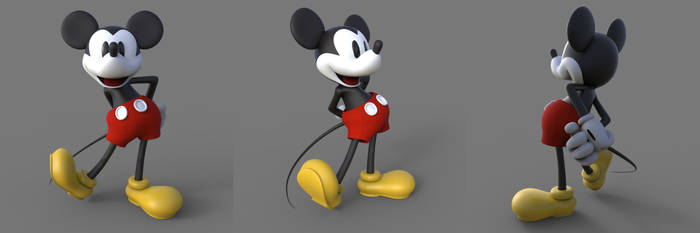 Mickey Mouse in 3D
