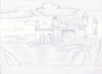 Little Mermaid - Exterior Background Drawing by AndresCuccaro