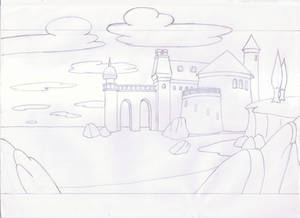 Little Mermaid - Exterior Background Drawing