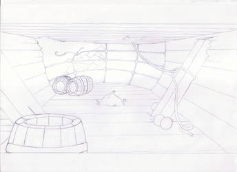 Little Mermaid - Interior Background Drawing by AndresCuccaro
