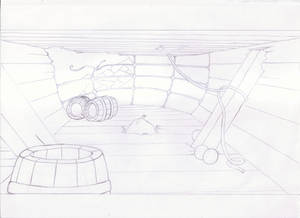 Little Mermaid - Interior Background Drawing