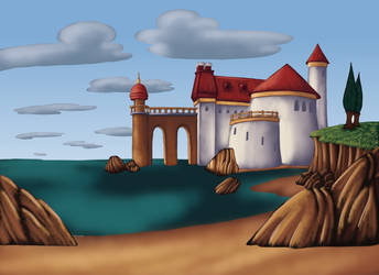 Little Mermaid - Exterior Background Painting by AndresCuccaro