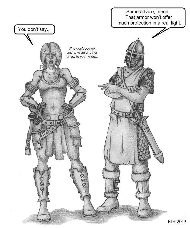 Skyrim: Those sharp guards    by DeepWoodian on DeviantArt