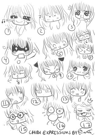 Chibi expressions by miyakiesChibi Expressions