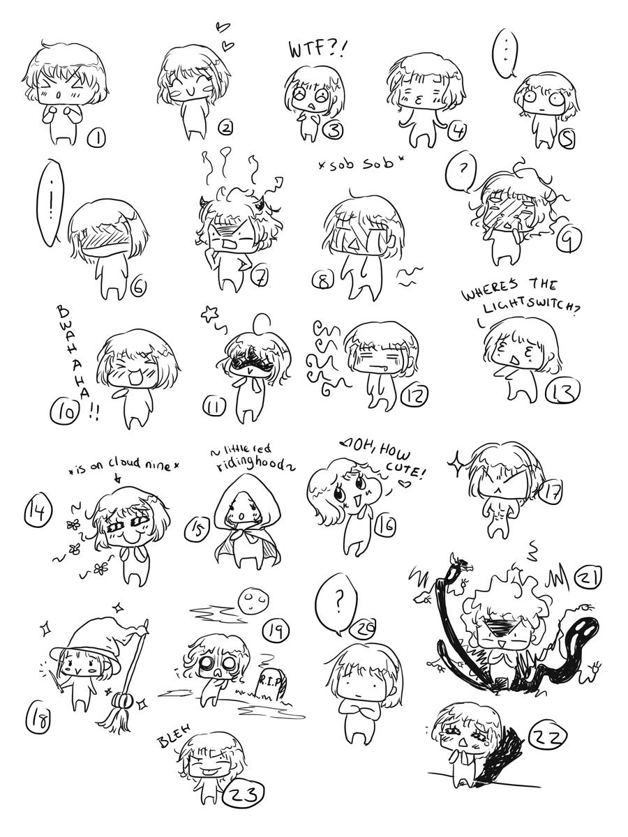 .:Chibi expressions:. by miyakies