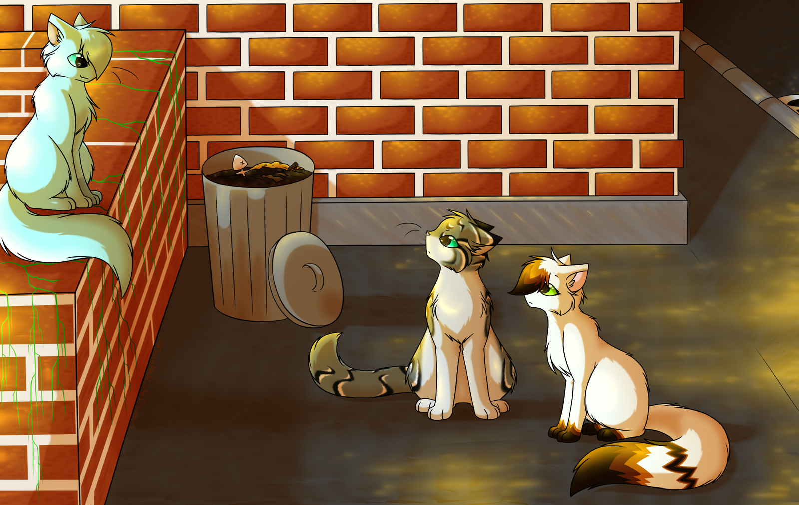 City of cats - Sunset chat by FlareAKACuteFlareon