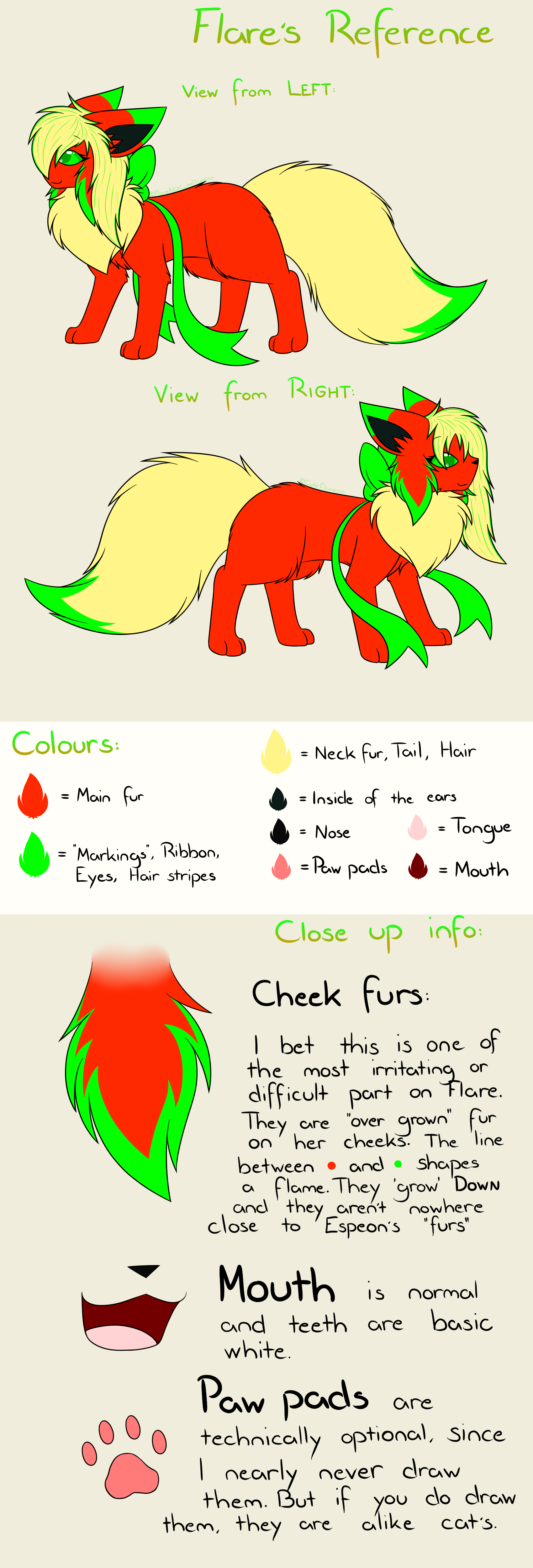 Flare's Reference sheet