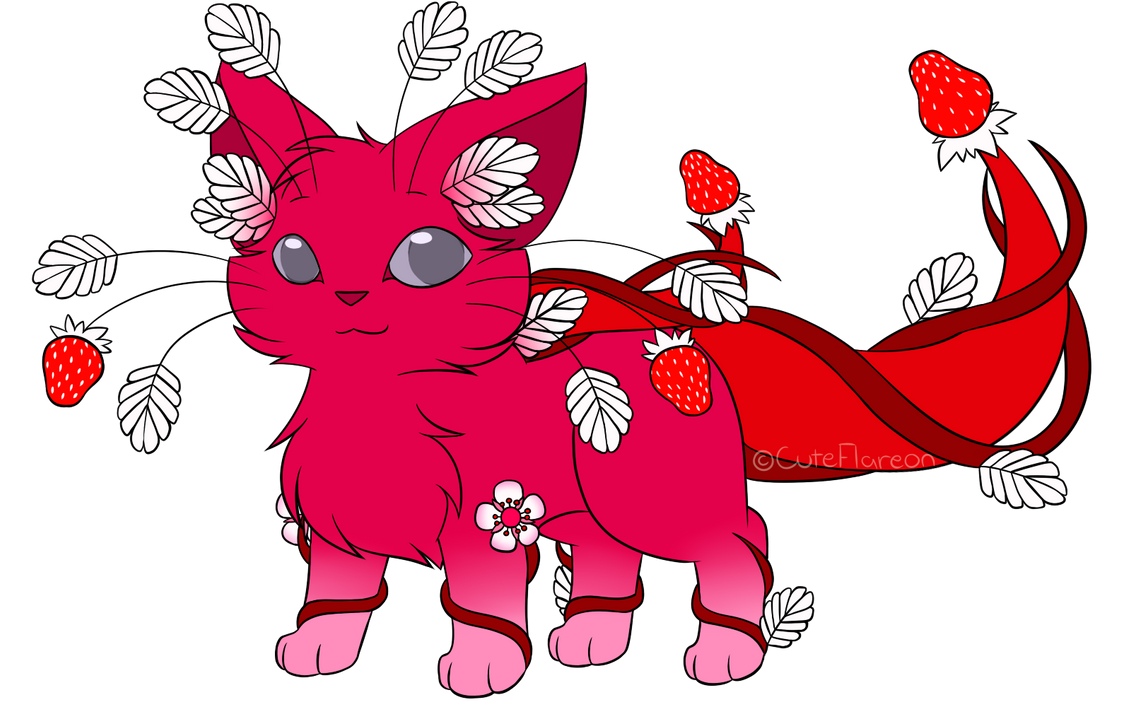 Planty - Strawberry S + P + F by FlareAKACuteFlareon