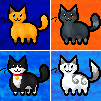 Pixel kitties by FlareAKACuteFlareon