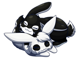 Sausage Commission - Bunny Cuddles by CuteFlare