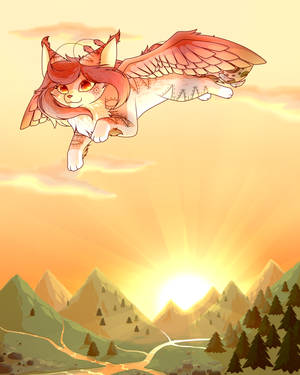 Commission - Flying through the Valley by CuteFlare