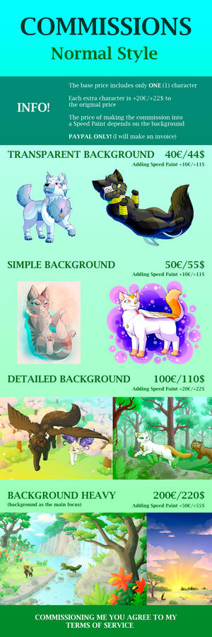 COMMISSION SHEET - Normal Style