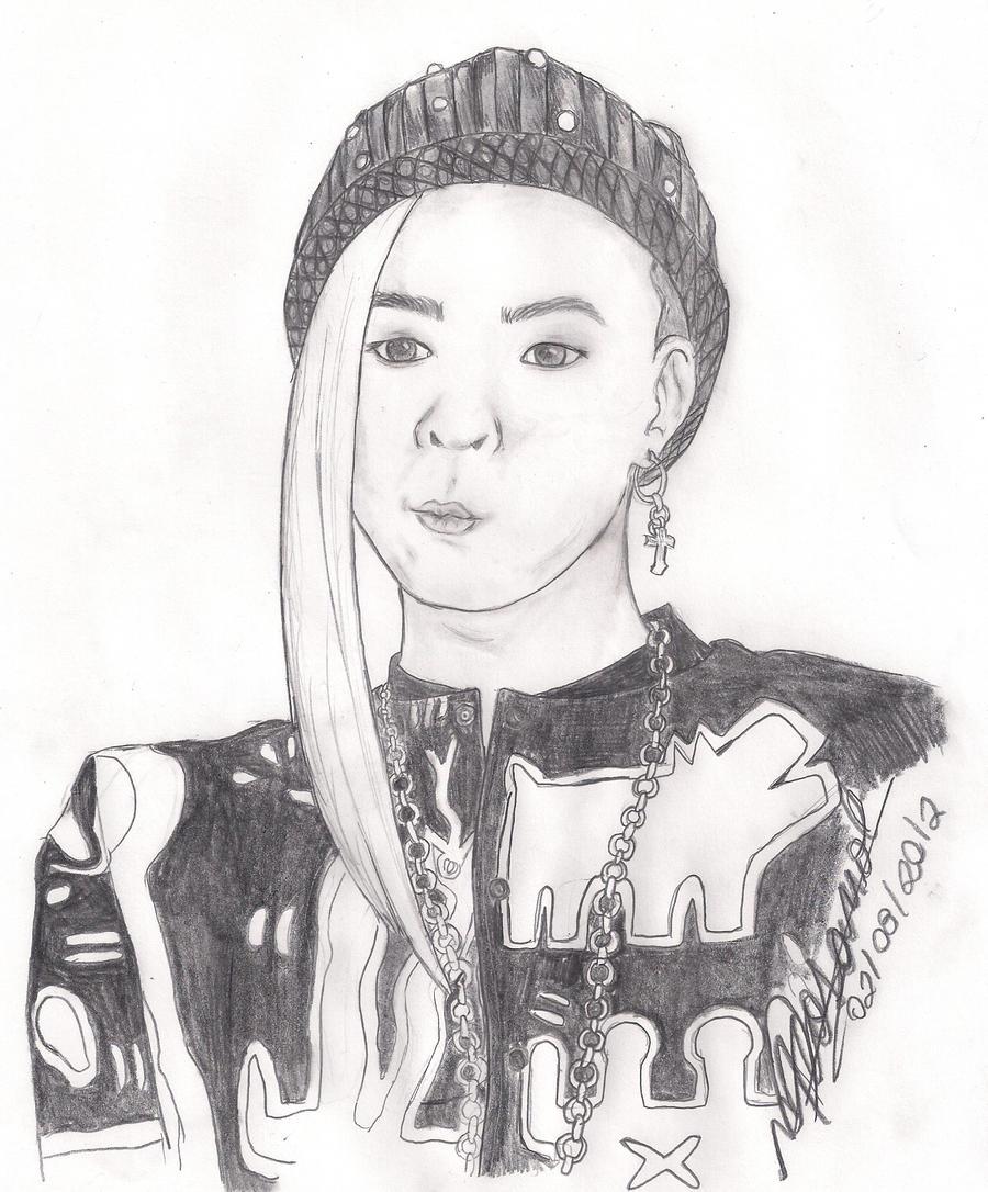 G-Dragon - Fantastic Baby  G Dragon White Hair