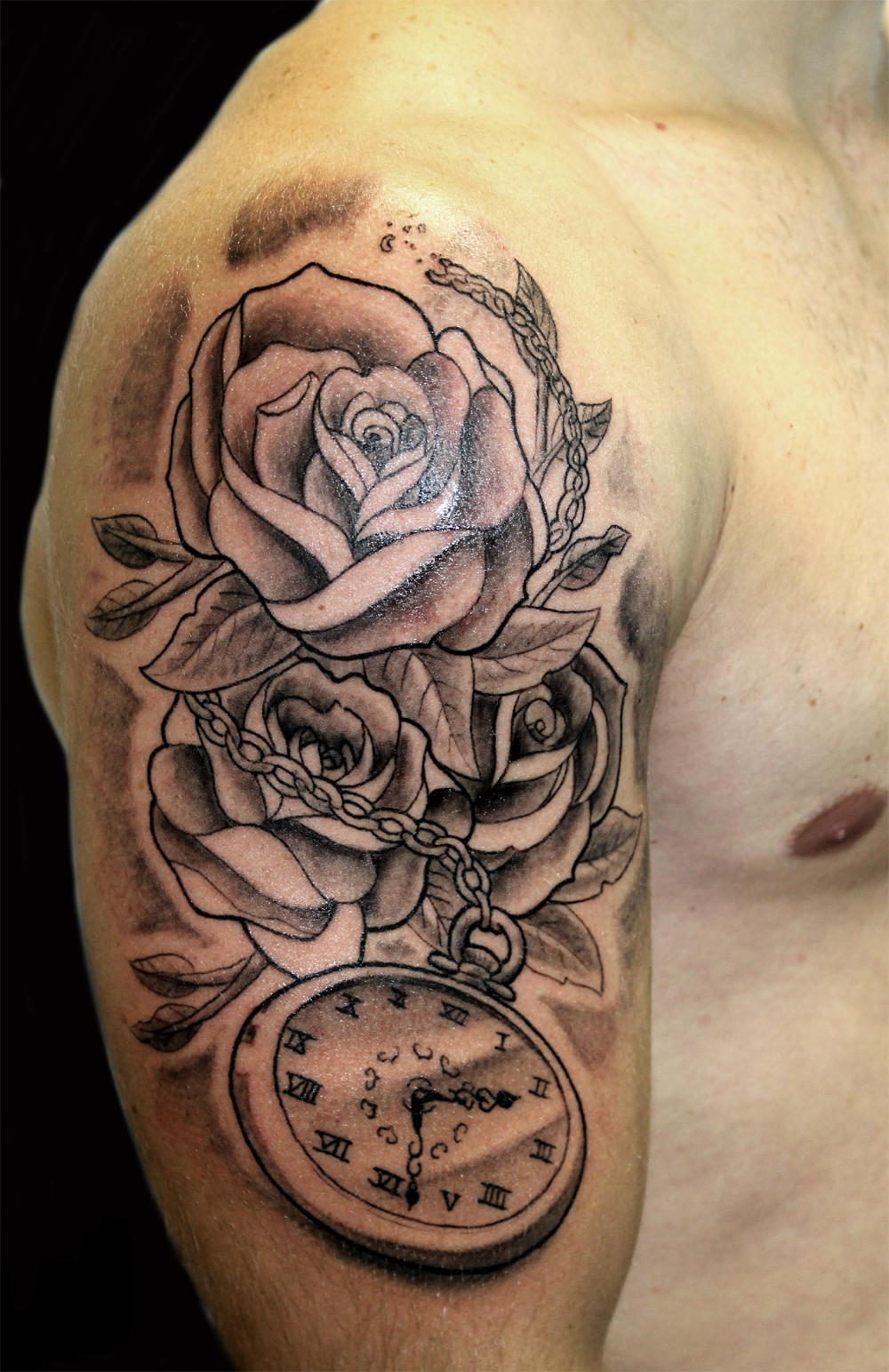 clockwork rose tattoo by greg0s on deviantart. Black Bedroom Furniture Sets. Home Design Ideas