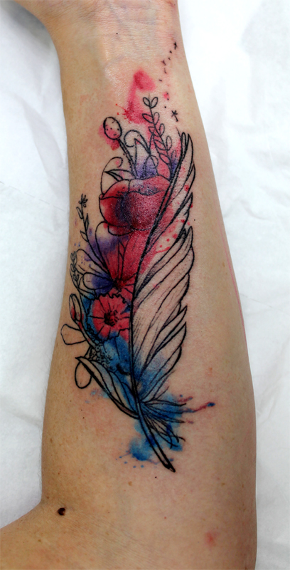 watercolor feather tattoo by greg0s on deviantart. Black Bedroom Furniture Sets. Home Design Ideas