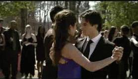 Damon and Elena dancing GIF by xlivethelyricsx