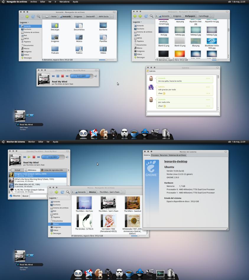 My Ubuntu 10.04 LTS Lucid Lynx by leonardomdq