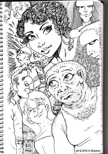 Sketchbook page 1 by Symson