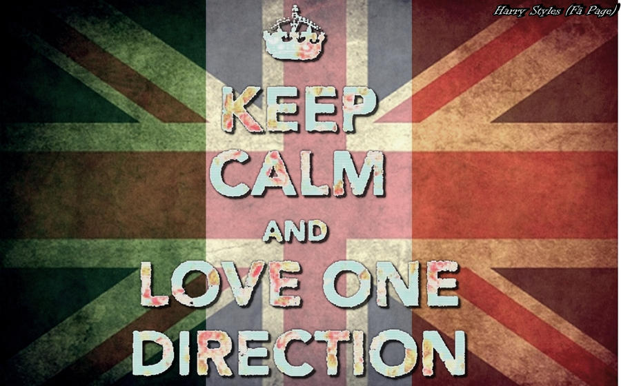 Keep Calm And Love One Direction By Kaah