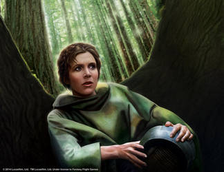 Star Wars LCG: Leia Organa by Thaldir
