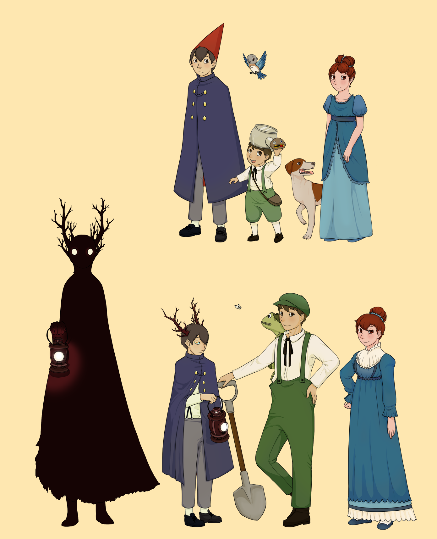 Over The Garden Wall Au Reference By Viczar Skiekatsu On