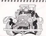 Fire Truck Urban Sketch at Boston Fire Museum by GiraffeMeow
