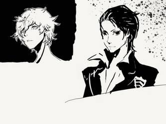 Persona 5 Digital Drawing Practice by GiraffeMeow