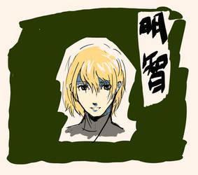 Persona 5 Akechi Digital Drawing Practice by GiraffeMeow