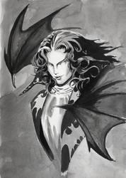 WIP Study of Ayami Kojima (Dracula Castlevania) by GiraffeMeow
