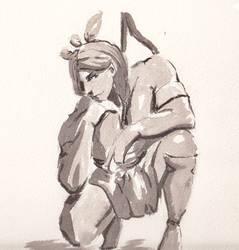 DSC 30 Mins Sketch Turok by GiraffeMeow