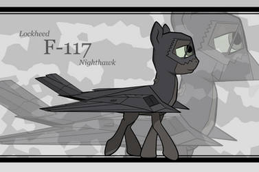 Plane Pony F-117 Walking by ZackJiang