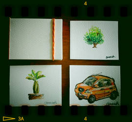 Sunday morning watercolour doodles by aneesah