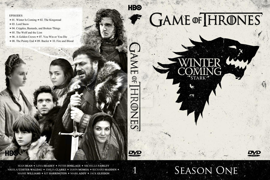 Game of Thrones: Season 1 - DVD Cover by Lunatic9289 on DeviantArt