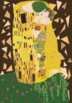 The kiss - Gustav Klimt illustration