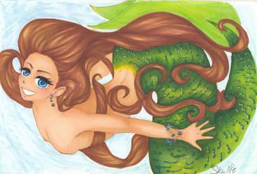 Mermaid by Skullietheoddone