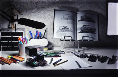 Messy Workspace by leylatmz