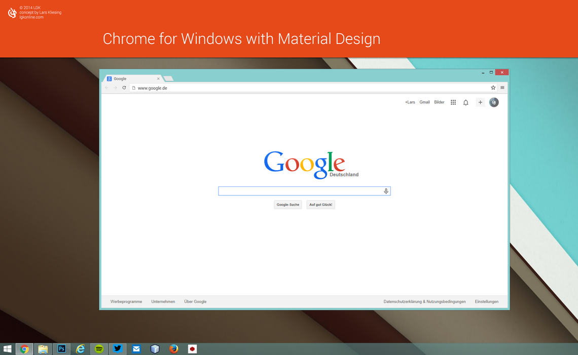 Chrome browser for windows with material design by for Window material