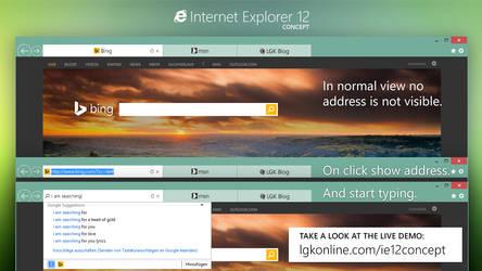 Internet Explorer 12 Concept: New address control