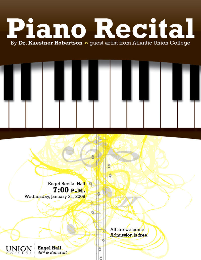 Piano Recital Flyer By Areck7