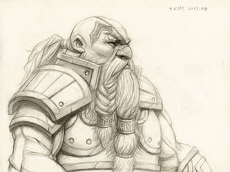 Dwarf Warrior by Kimsuyeong81
