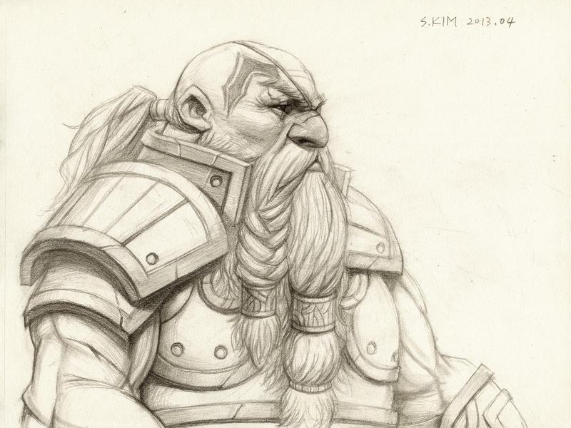 Dwarf Warrior by Kimsuyeong81 on DeviantArt