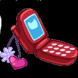 Celular Rojo PNG Para Tu Doll by NoviaDAustinMahone