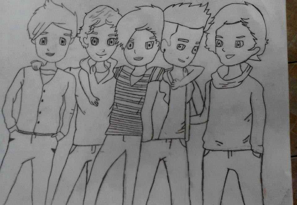 How To Draw One Direction Colouring Pages