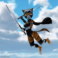 Teenage Mutant Ninja Tiger Girl by Swawa3D