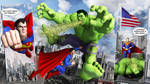 Superman vs HULK: Cheap Shot by Swawa3D