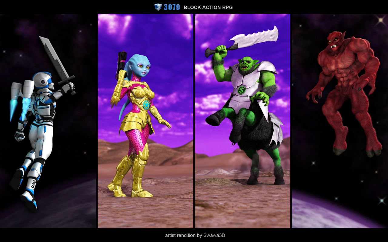 3079 Block Action RPG: Races by Swawa3D