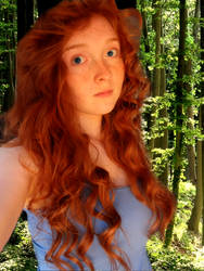 Merida at Summer camp. by Elven-Vampyre