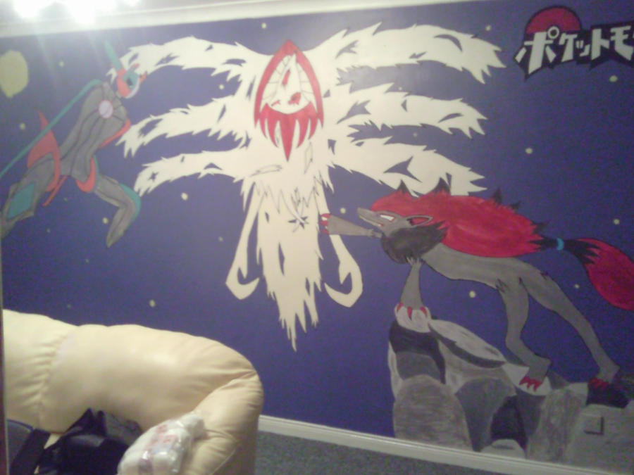 Pokemon wall mural 1 by comand reu on deviantart for Picross mural 1