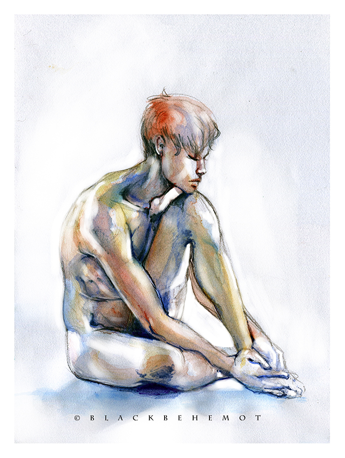 Boy Watercolor by Blackbehemot