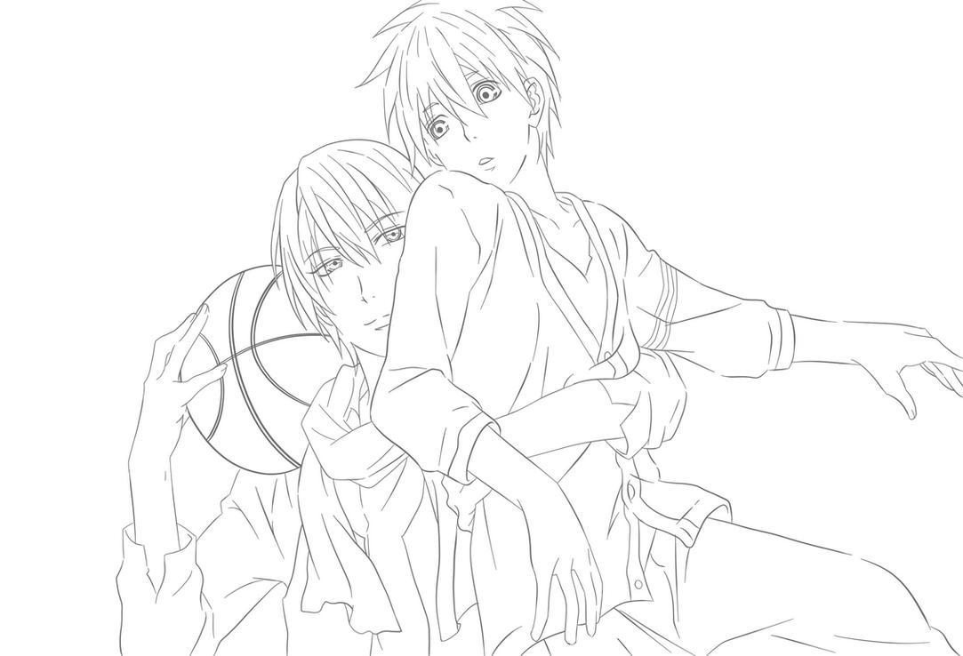 Line Art Kuroko : Kise and kuroko line art by nayruslove on deviantart